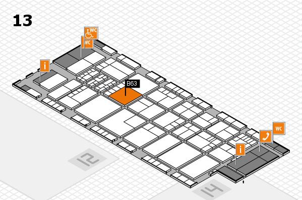 K 2016 hall map (Hall 13): stand B63