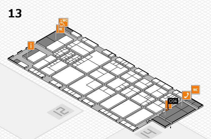 K 2016 hall map (Hall 13): stand C04