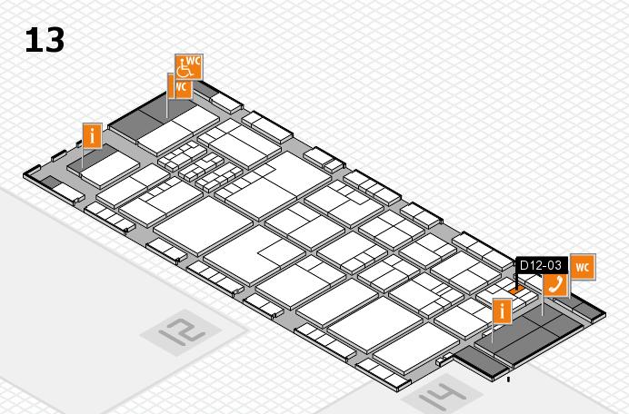 K 2016 hall map (Hall 13): stand D12-03