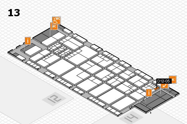 K 2016 hall map (Hall 13): stand D12-05