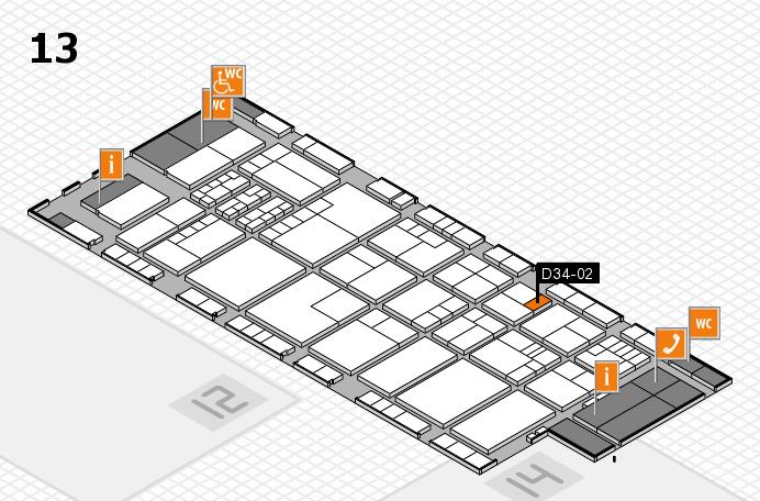 K 2016 hall map (Hall 13): stand D34-02