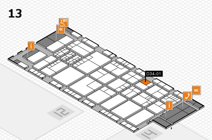 K 2016 hall map (Hall 13): stand D34-01