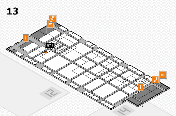 K 2016 hall map (Hall 13): stand B78