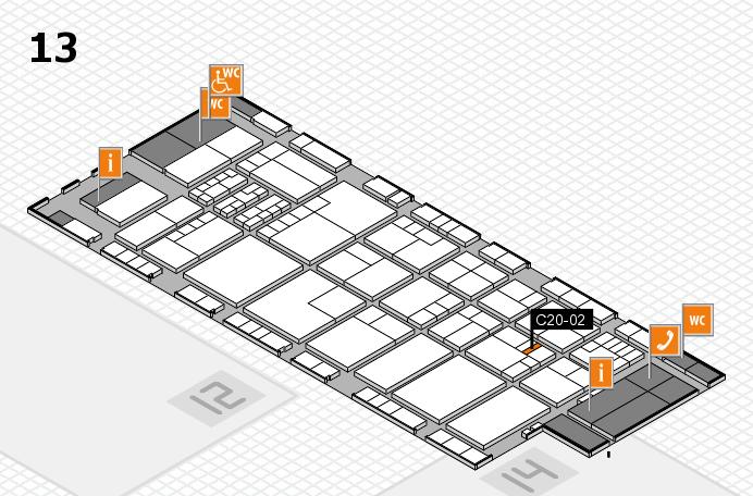 K 2016 hall map (Hall 13): stand C20-02