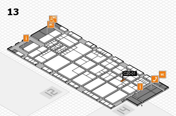 K 2016 hall map (Hall 13): stand C20-01
