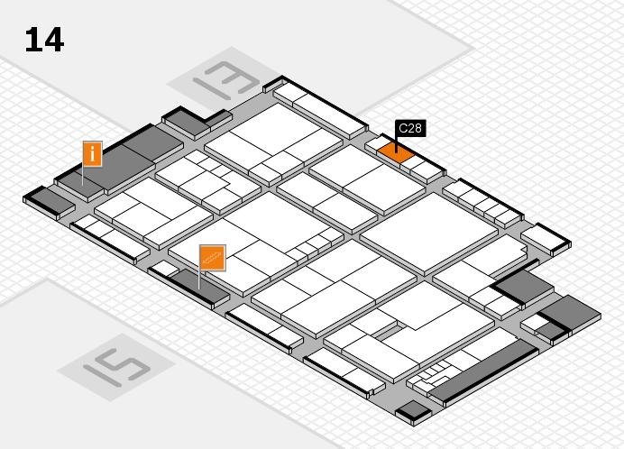 K 2016 hall map (Hall 14): stand C28