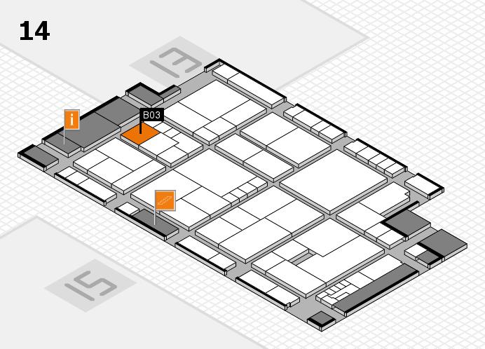 K 2016 hall map (Hall 14): stand B03