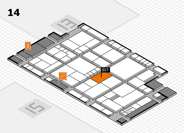 K 2016 hall map (Hall 14): stand B37