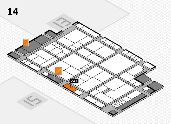 K 2016 Hallenplan (Halle 14): Stand A41