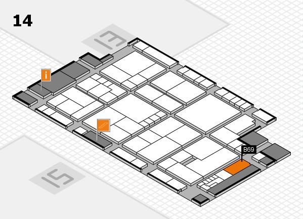 K 2016 Hallenplan (Halle 14): Stand B69