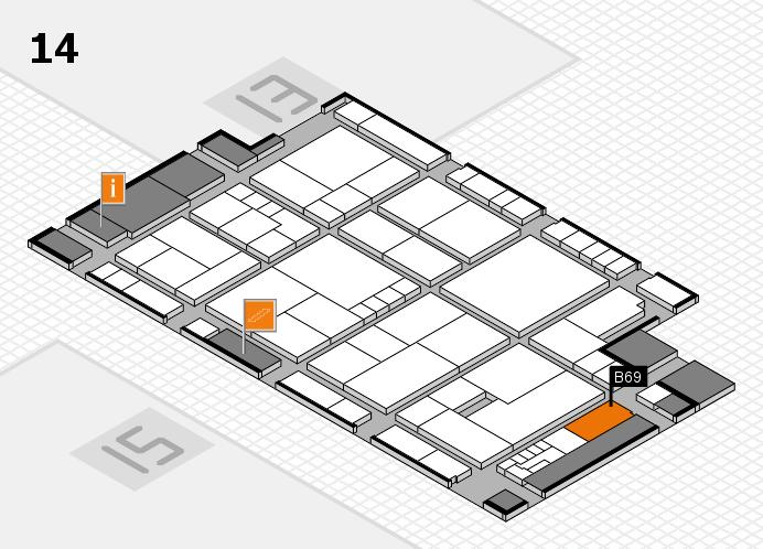 K 2016 hall map (Hall 14): stand B69