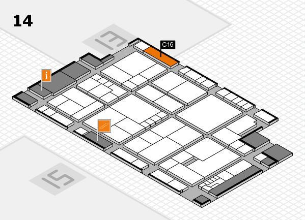 K 2016 hall map (Hall 14): stand C16