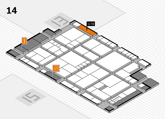 K 2016 Hallenplan (Halle 14): Stand C16