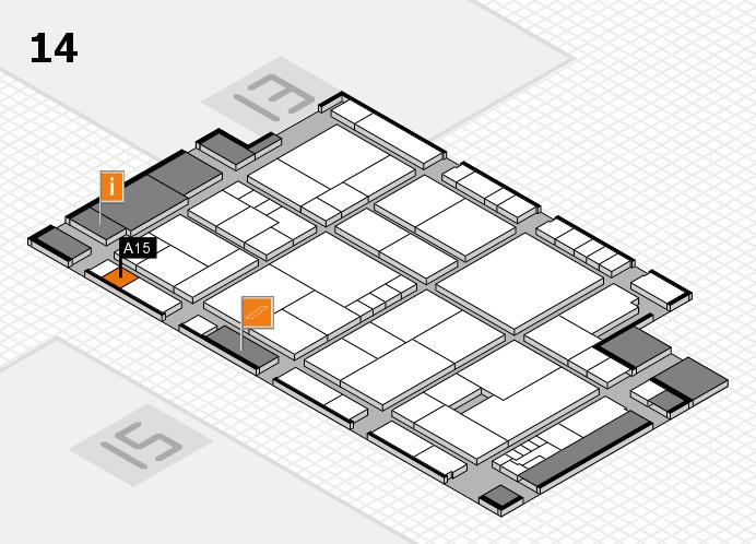 K 2016 hall map (Hall 14): stand A15