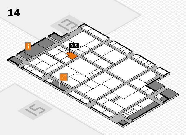 K 2016 Hallenplan (Halle 14): Stand B15