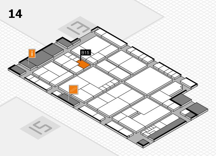 K 2016 hall map (Hall 14): stand B15