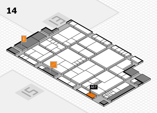 K 2016 hall map (Hall 14): stand A67