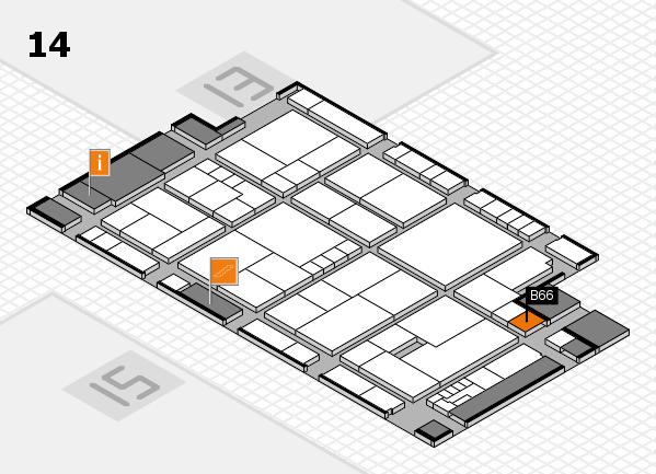 K 2016 hall map (Hall 14): stand B66