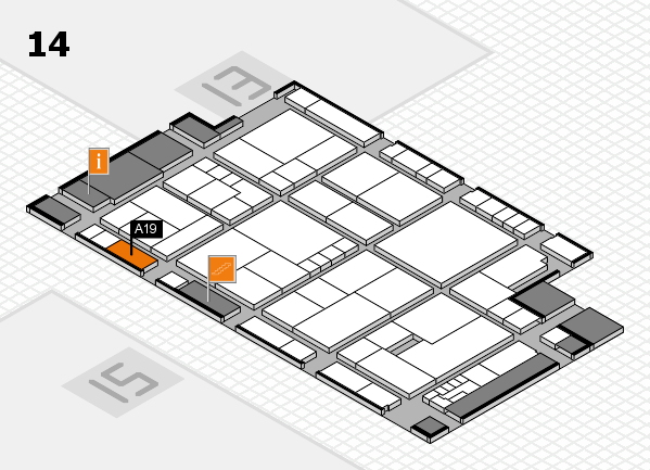 K 2016 Hallenplan (Halle 14): Stand A19