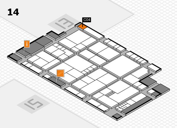 K 2016 hall map (Hall 14): stand C04