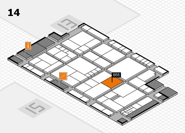 K 2016 hall map (Hall 14): stand B55