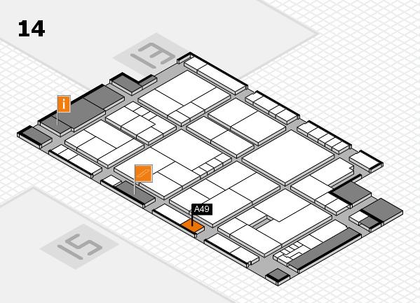 K 2016 hall map (Hall 14): stand A49