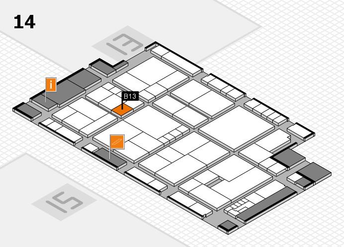 K 2016 Hallenplan (Halle 14): Stand B13