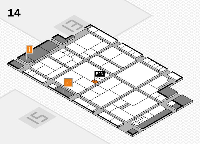 K 2016 hall map (Hall 14): stand B23