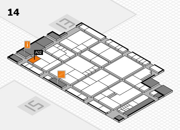 K 2016 hall map (Hall 14): stand A02