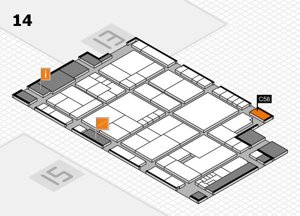 K 2016 hall map (Hall 14): stand C58