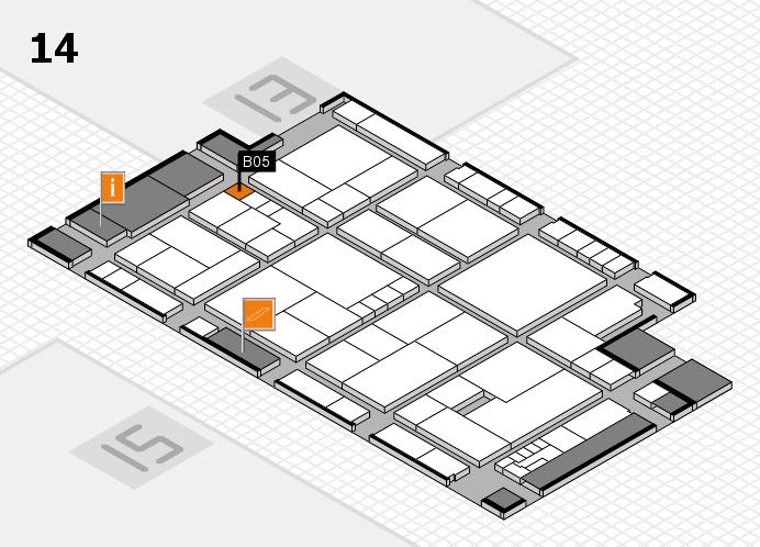 K 2016 hall map (Hall 14): stand B05