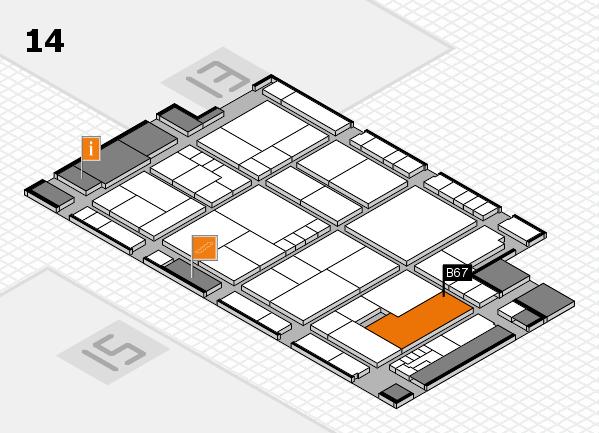 K 2016 Hallenplan (Halle 14): Stand B67