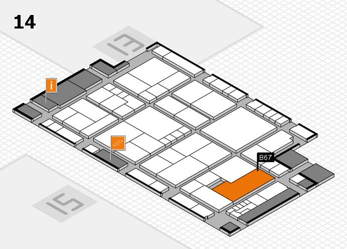 K 2016 hall map (Hall 14): stand B67