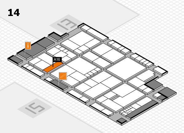 K 2016 Hallenplan (Halle 14): Stand A16