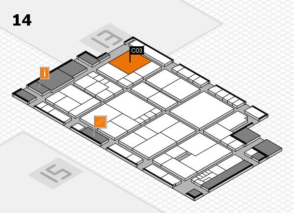 K 2016 hall map (Hall 14): stand C03