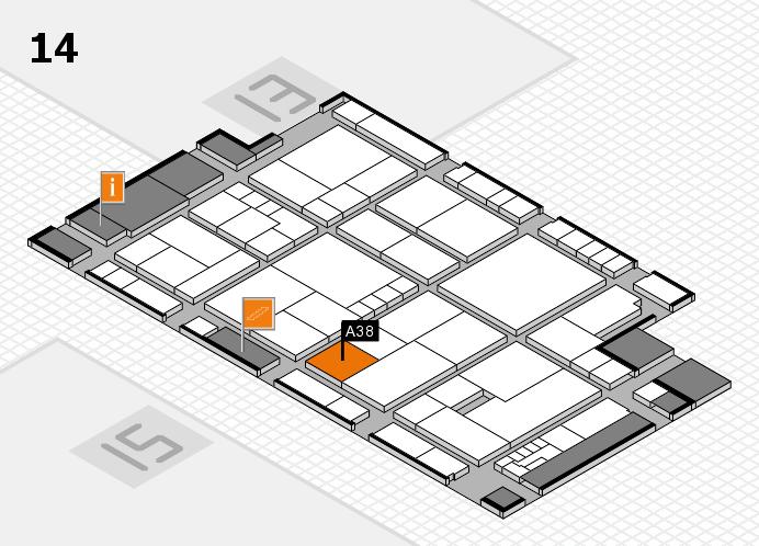 K 2016 Hallenplan (Halle 14): Stand A38
