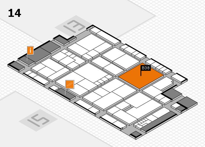 K 2016 hall map (Hall 14): stand B38