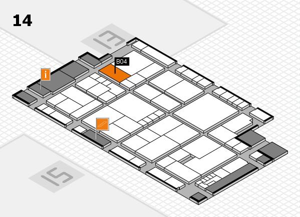 K 2016 Hallenplan (Halle 14): Stand B04