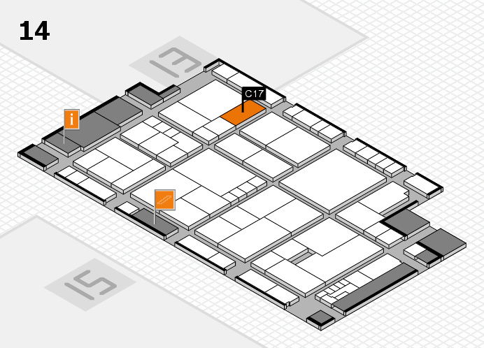 K 2016 hall map (Hall 14): stand C17