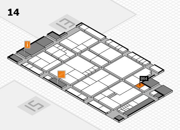 K 2016 Hallenplan (Halle 14): Stand B64