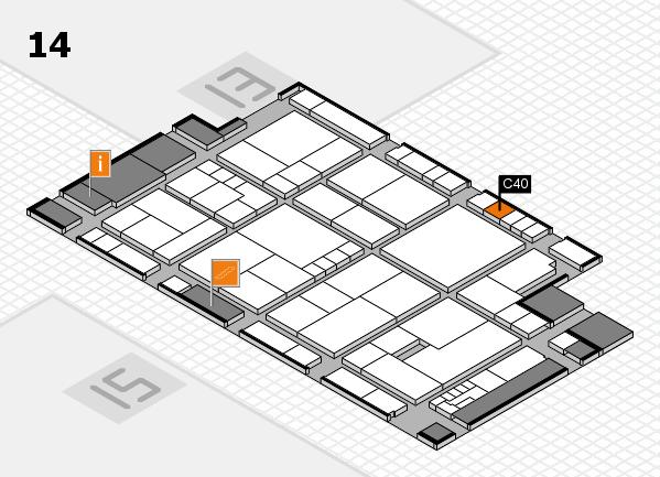 K 2016 hall map (Hall 14): stand C40