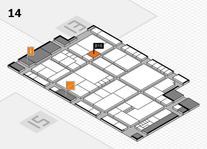 K 2016 hall map (Hall 14): stand B16