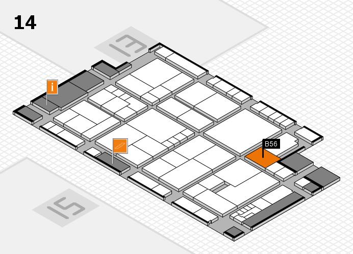K 2016 hall map (Hall 14): stand B56