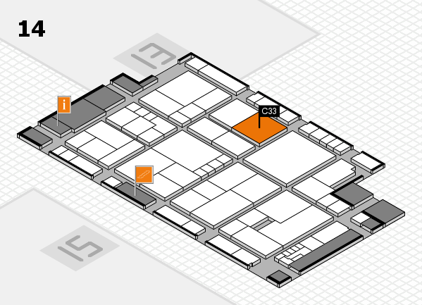 K 2016 Hallenplan (Halle 14): Stand C33