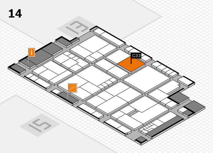 K 2016 hall map (Hall 14): stand C33