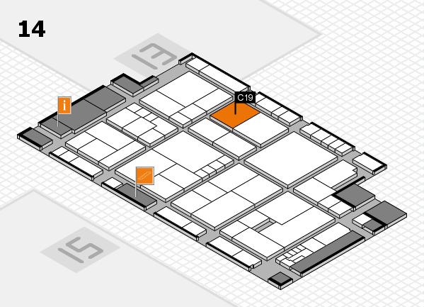 K 2016 hall map (Hall 14): stand C19
