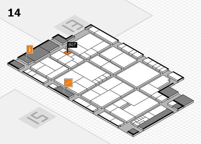 K 2016 hall map (Hall 14): stand B07