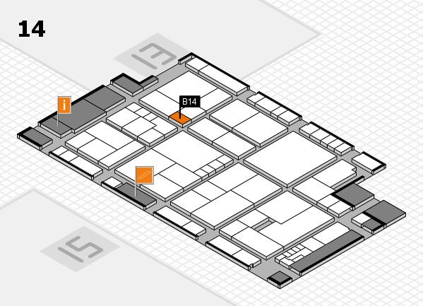 K 2016 hall map (Hall 14): stand B14