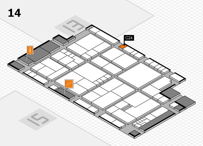 K 2016 hall map (Hall 14): stand C24