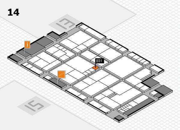 K 2016 Hallenplan (Halle 14): Stand B31